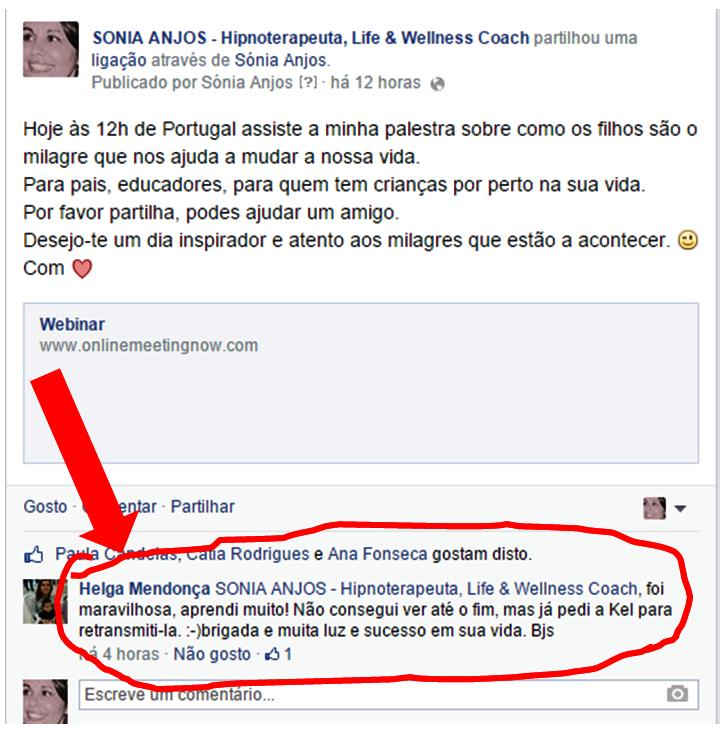 TestemunhoFB_palestra CONEDI